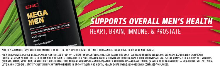 supports overall men's health heart, brain, immune & prostate