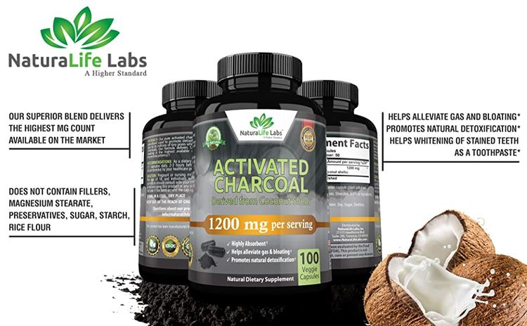 activated charcoal 1200 mg