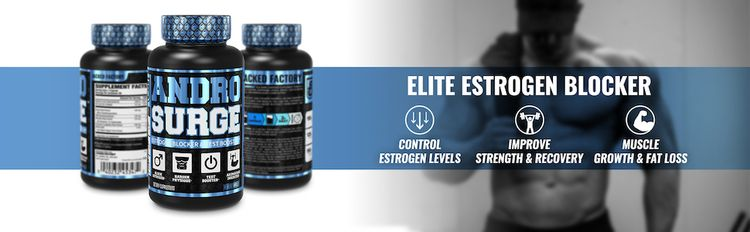 Androsurge controls estrogen levels, improves strength & recovery, and increases muscle growth