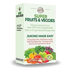 super greens fruits and veggies super foods capsules veggie capsules country farms caps vitamin vegg
