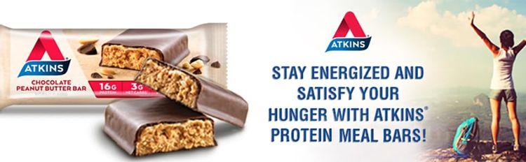 atkins chocolate peanut butter bar low carb gluten free keto friendly