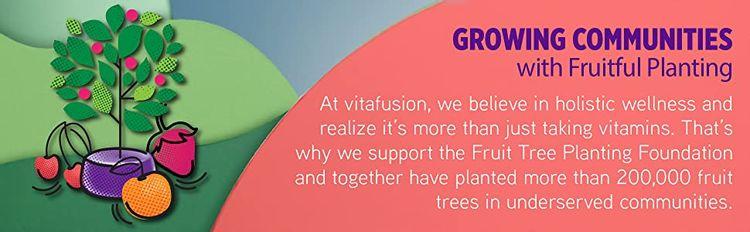 Vitafusion Fruit Tree Planting Foundation communities nutrient-rich fruit sustainable lifestyle