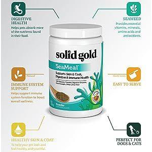 seaweed, kelp, flaxseed, digestive enzymes, puppy, kitten, senior, dog, cat, skin and coat, immune