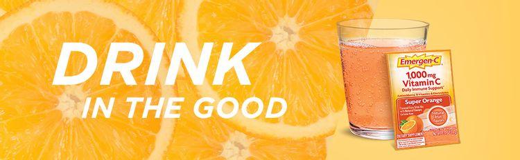 Emergen-C, EmergenC, Powder, Vitamin C, Immune Support, Drink Mix, Vitamins, Wellness, Super Orange