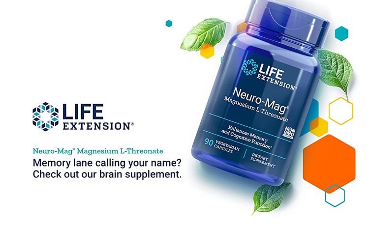 Life Extension, Neuromag, Neuro Mag, Magnesium L-Threonate, Memory Function