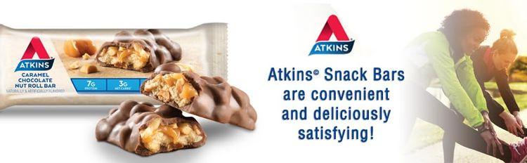 atkins snack bars low carb gluten free keto friendly