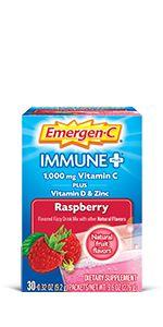 Emergen-C, EmergenC, Immune Plus, Vitamin C, Immune Support, Drink Mix, Powder