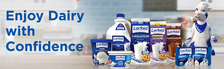 Enjoy dairy with confidence - Lactaid lactose-free dairy products and lactase enzyme supplements